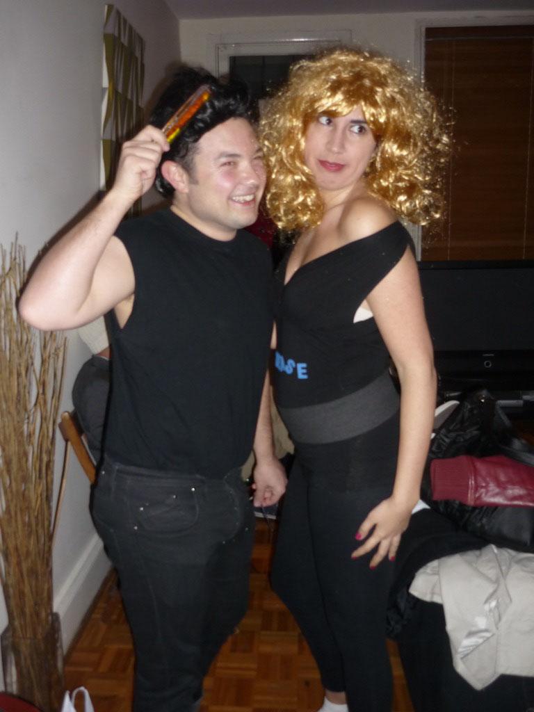 Manel y Laura como DANNY ZUCKO Y SANDY