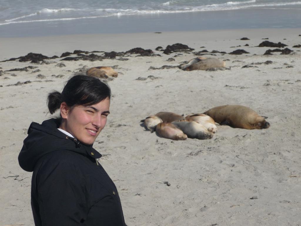 Yo en Seal Bay